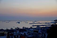 Istanbul-Sonnenuntergang lizenzfreies stockfoto