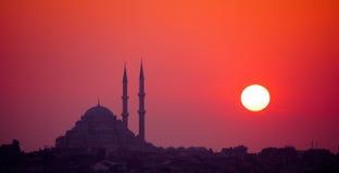 Istanbul-Sonnenuntergang lizenzfreie stockfotografie