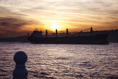 Istanbul am Sonnenuntergang Lizenzfreie Stockfotografie