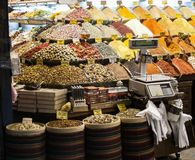 Istanbul souk, spices, Turkey experience stock photography