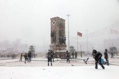 Istanbul sous la neige Image stock