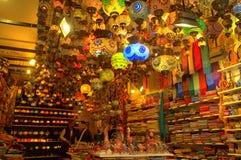 Istanbul souvenir shoppar Arkivbild