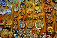 Istanbul Souvenirs. A place full of souvenirs to buy in Grand Bazaar, Istanbul Stock Images