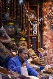 Istanbul Spice Market Vendor Stock Photo