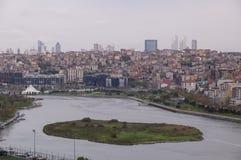 Istanbul-Stadtansicht vom Berg Stockbilder