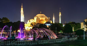 Istanbul Ste-Sophie at night Royalty Free Stock Images