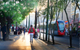 Istanbul-Straße Lizenzfreies Stockbild