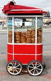 Istanbul Street Food: Simit Pastires royalty free stock photography