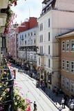 Istanbul street scene from balcony Royalty Free Stock Photography