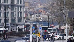 Istanbul street traffic stock video