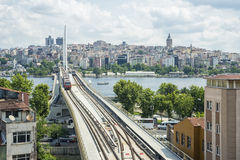 Istanbul subway bridge. The subway bridge in the old Istanbul Stock Photography