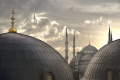Istanbul. Sultan Ahmet as seen from Hagia Sophia stock photos