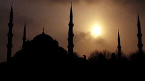 Istanbul sultan ahmet mosque in winter Stock Images