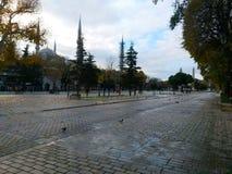 Istanbul Sultanahmet fyrkant, stanker av historia Arkivfoton