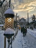Istanbul. İstanbul sultanahmet snow Royalty Free Stock Photo