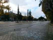 Istanbul Sultanahmet square, reeks of history Stock Photos
