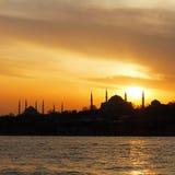 Istanbul on sunset stock photo