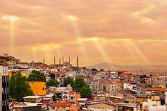 Istanbul sunset Stock Image