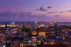 Istanbul sunset. Panorama - Turkey travel background royalty free stock photos