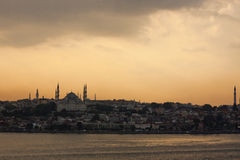 Istanbul at sunset Stock Photography