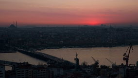 Istanbul Sunset stock video footage