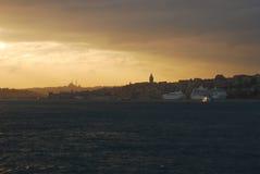 Istanbul sunset. European side Turkey Istanbul Stock Image