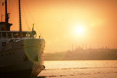 Istanbul sunset Royalty Free Stock Photography