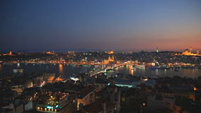 Istanbul at Sunset stock video footage