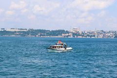 Panoramic view of Istanbul, Turkey. royalty free stock photos