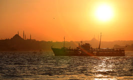 Istanbul sunset panorama Stock Images
