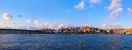 Istanbul sunset panorama Stock Photo