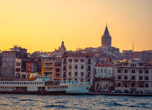 Istanbul at sunset Royalty Free Stock Images