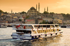 Istanbul at sunset Royalty Free Stock Photo