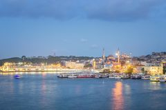Istanbul at Sunset, Turkey. Blue Hour Istanbul at Sunset, Turkey stock photography