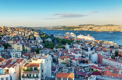 Istanbul at sunset, Turkey Stock Images
