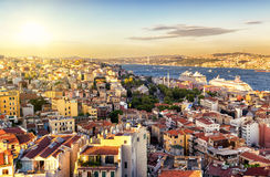 Istanbul at sunset, Turkey Royalty Free Stock Images