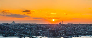 Istanbul, sunset view from Galata tower Stock Photo