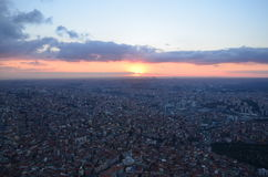 Istanbul sunset views from a height of 280 meters Stock Image