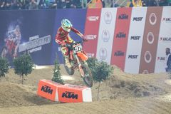 Istanbul Supercross championship royalty free stock image