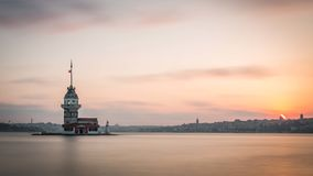 Istanbul sur le soleil vers le bas Photographie stock