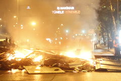Istanbul Taksim Protests stock image