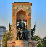 Istanbul Taksim, Republic Monument Royalty Free Stock Images