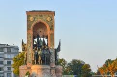 Istanbul Taksim, Republic Monument Royalty Free Stock Photo