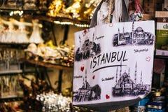 Istanbul-Tasche im Türkischeshop Lizenzfreies Stockbild