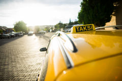 Istanbul taxi car. Taxi car in Istanbul,Turkey Stock Photography