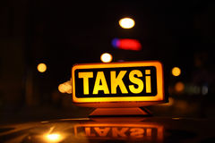 Istanbul taxi, Turkey Royalty Free Stock Photo