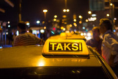 Istanbul taxi Royalty Free Stock Photo
