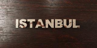 Istanbul - titre en bois sale sur l'érable - image courante gratuite de redevance rendue par 3D illustration libre de droits