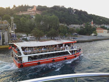 Istanbul touristic boat Stock Images
