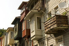 Istanbul - Traditional wooden houses Stock Image